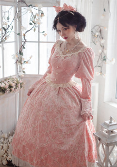 Krncrlo -Mrs. Cilinda- Classic Long Sleeves Lolita OP Dress