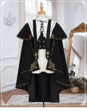 Yinluofu - Ouji Lolita Topwear with Cape and Detachable Collar