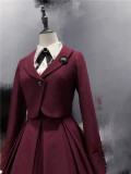 Classic College Corset Lolita JSK, Short Jacket and Blouse