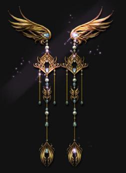 Doirs Night -Peacock- Qi Lolita Accessories