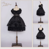 MoiMoiHoney -The Falling Feather- High Waist Sweet OP Dress