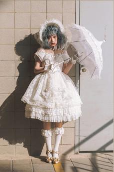 MoiMoiHoney -The Falling Feather- High Waist Sweet OP Dress