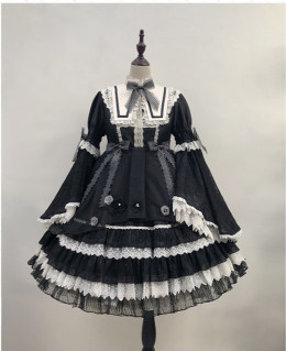 Angels Heart -Piano Music in the Night- Classic Lolita OP Dress Full Set