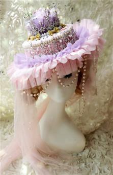 Lady Miao -Rainbow Cake Tale- Gorgeous Pricess Lolita Hat