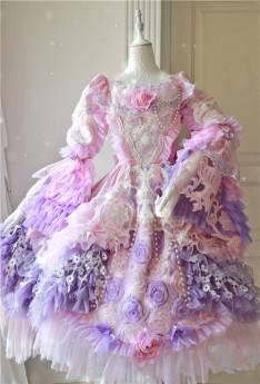 Lady Miao -Rainbow Cake Tale- Gorgeous Pricess Lolita JSK and OP Dress