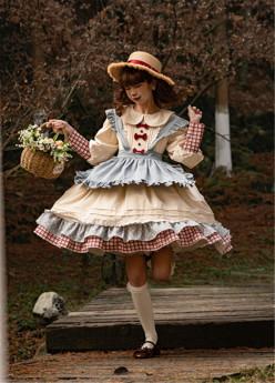Butterbeer Studio -Milky Doll- Sweet Countryside Lolita OP Dress