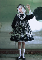 The Wolf Detective - Sweet Gothic A Shape Lolita OP Dress