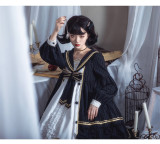 Mercury in the Daytime - Sweet Gothic High Waist Lolita OP Dress