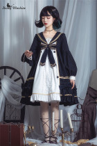 Mercury in the Daytime - Sweet Gothic High Waist Lolita OP Dress