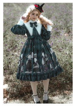 Poisonous Mushroom - Sweet Gothic Lolita OP Dress