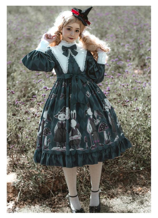 Poisonous Mushroom - Sweet Gothic Lolita OP Dress