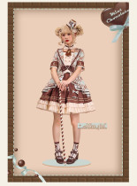 Alice Girl -Peppermint Chocolate- Sweet Lolita OP Dress