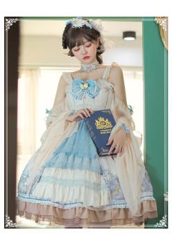 Yinluofu -The Demon Prelude- Classic Lolita JSK with Detachable Arm Sleeves