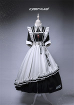 LilithHouse -Cyber Maid- Gothic Lolita OP Dress Set Version I