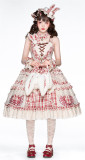Miss Rabbit Sweet Lolita JSK Full Set and Short Coat