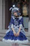 Neverland -Star in the Night- Classic Lolita OP Dress with Brooch Rosette