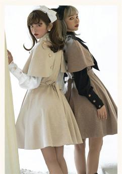 Amber Mirror -New Street Maiden- Classic Lolita JSK with Detachable Cape