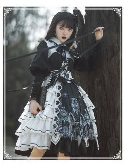 Yinluofu -Eye of Red Heart- Classic Lolita OP Dress Set