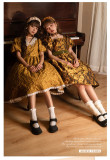 ZJ Story -Golden Years- Classic Embossment Lolita OP Dress Set
