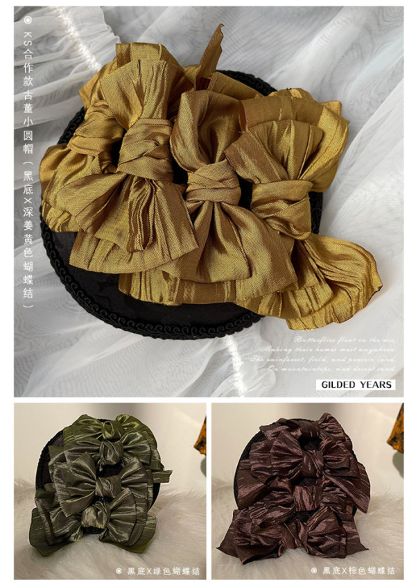 ZJ Story -Golden Years- Classic Lolita Hat and headbow