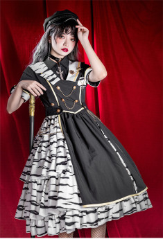 Tiger Military Ouji Lolita One Piece Dress