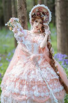 Gorgeous Fairy Tea Party Princess Wedding Lolita JSK with Arm Sleeves