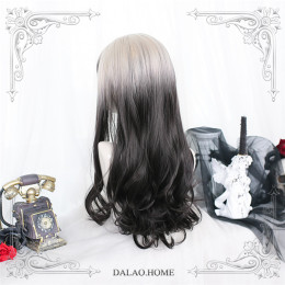 Dalao -Day and Night- Long Big Curls Wavy Lolita Wig