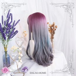 Dalao - Long Big Curls Purple Lolita Wig