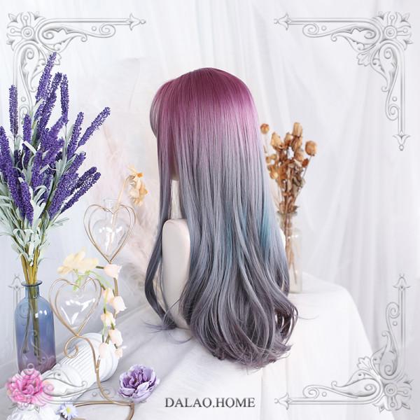 Dalao - Long Big Curls Purple Lolita Wig