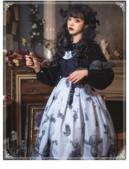 Demon Doll Haloween Gothic Lolita JSK  and Vest