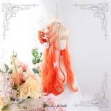 Dalao - 65cm Long Curly Wavy Orange Lolita Wig