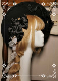 Rose in the Night Classic Vintage Lolita Headdress and Waistband