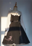 Rose in the Night Classic Vintage Lolita OP Dress