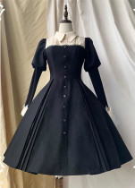 Dark Bubble Classic Lolita OP Dress and Matched Blouse