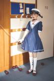 Cyan Lolita -Sound of Waves- Sailor Lolita OP Dress