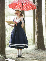 Sailing Route Sailor Lolita OP Dress with Bow Tie