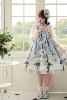 BoliCherry -Cloud of Fog Island- Tea Party Princess High Waist Lolita JSK