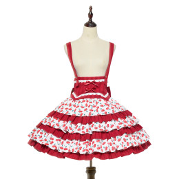 Magic Tea Party -Cherry Tea Party- Sweet Lolita Skirt with Suspender