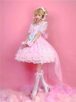 Cute Doll Sweet  Lolita OP Dress Full Set
