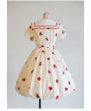 Milu Orig -Little Cherry- Sweet Lolita OP Dress