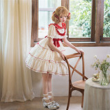 Cranberry Short Sleeves Sweet Lolita OP Dress