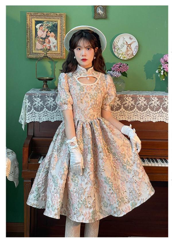 Embossmentt Vintage Classic Lolita OP Dress