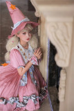 Little Candy Witch Halooween Sweet Lolita OP Dress and Accessories
