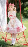 Strawberry Sweet Lolita OP Dress and Headbow Set