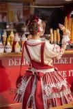 Big Strawberry Sweet Lolita Salopettes and Blouse