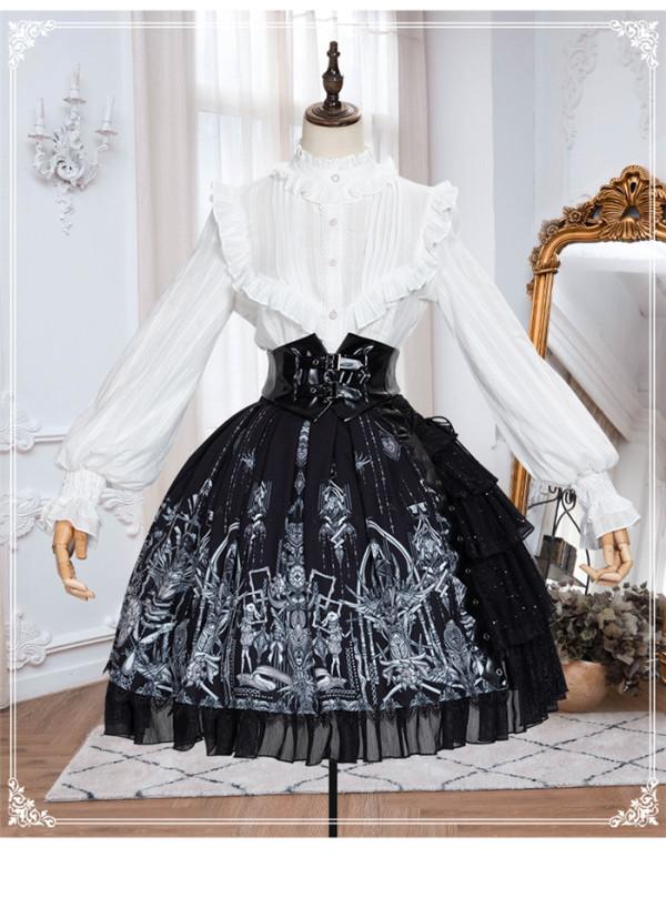 Yinluofu -Eye of Red Heart- Gothic Lolita JSK and Skirt