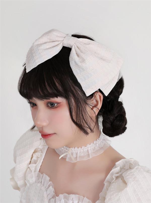 Cream Waffles and Chocolate Waffles Sweet Doll Lolita Headbow and Choker