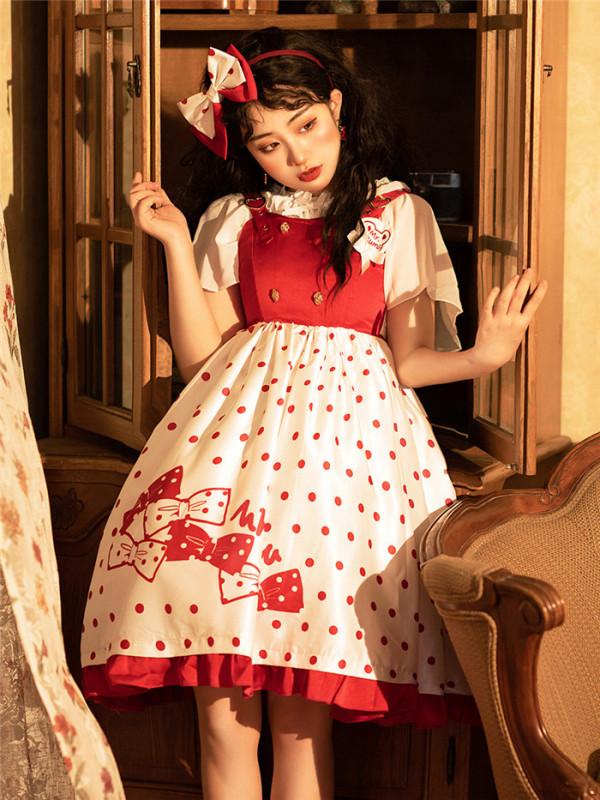 Brocade Garden - Beibei Bear- Sweet Lolita JSK and Headbow