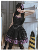 CatHighness - Leopard Sweetheart- Sweet Cool Lolita JSK and Hairclip