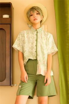 Princess Chronicles -Limited Blossom- Ouji Lolita Printed Blouse, Shorts and Hat